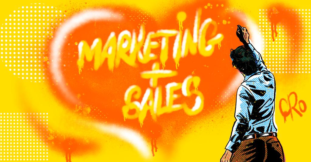 Illustration Of Marketing Loves Sales