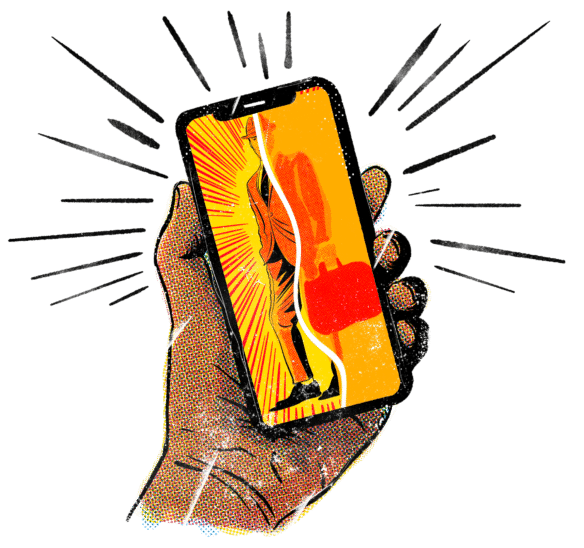 Illustration Of Swipe Right For Business