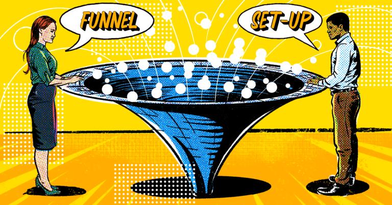Illustration Of Funnel Set-Up