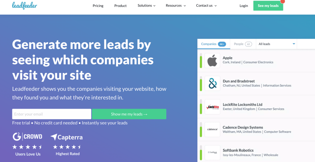 Best Account-Based Marketing Software: Leadfeeder