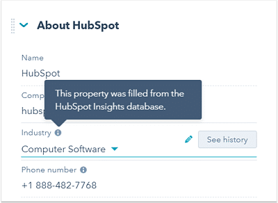 Data Enrichment Services - Hubspot