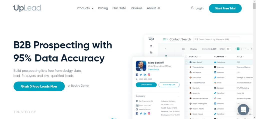 Data Enrichment Tools - Uplead
