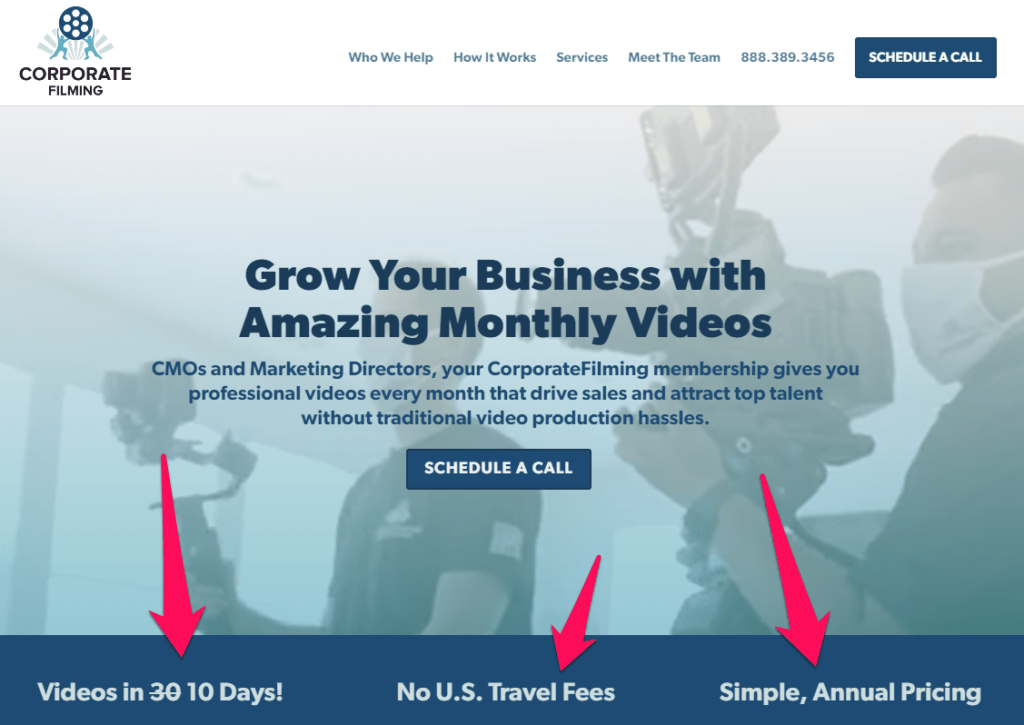 Alt=&Quot;Revenue-Strategy-Diversify-Offerings-Corporate-Filming-Example&Quot;