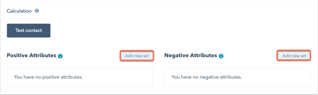 Hubspot Lead Scoring: Positive And Negative Attributes Setup
