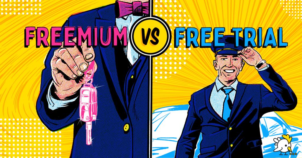 Illustration Of Freemium Vs Free Trial