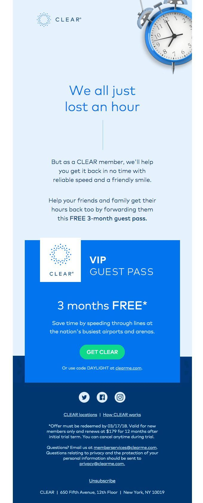 Customer Marketing Example Clear Referral Code
