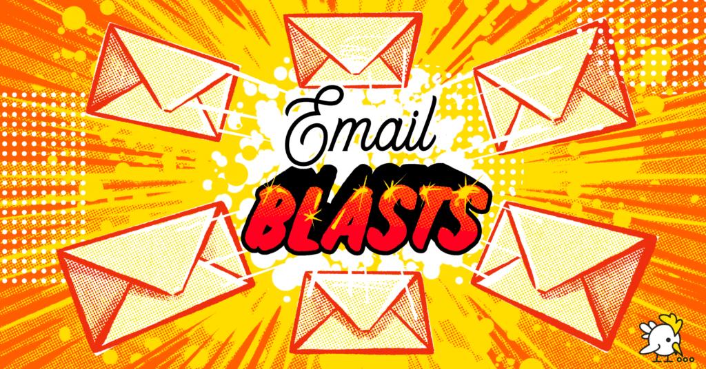 Illustration Of Email Blasts