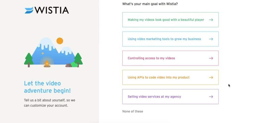 Customer Marketing Example Wistia Onboarding Goals