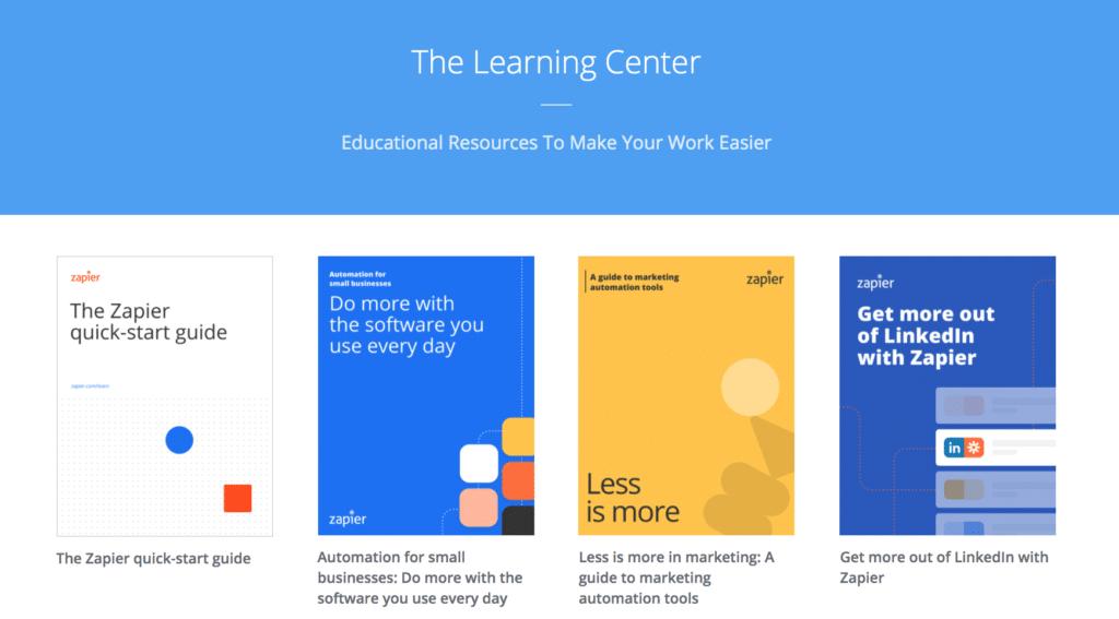 Customer Marketing Example Zapier Learning Center