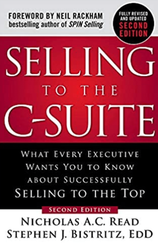 Best Sales Books: Cover Of Selling To The C-Suite