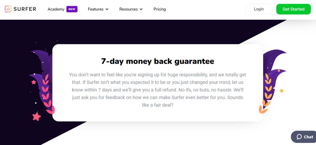Alt=&Quot;Saas-Pricing-Surfer-Money-Back-Guarantee&Quot;