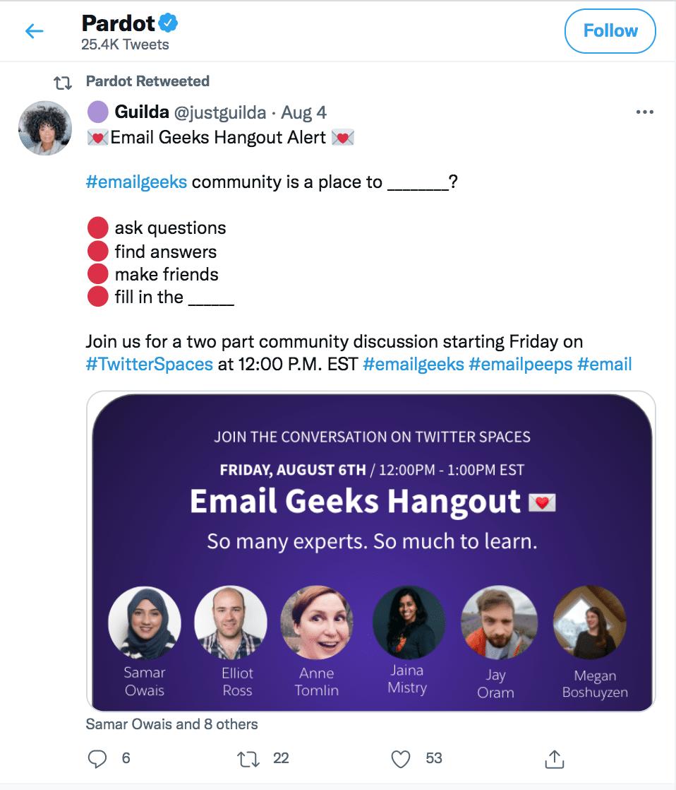 Pardon Tweet Social Media Engagement
