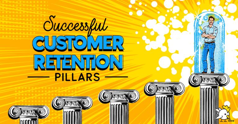 Illustration Of Successful Customer Retention Pillars